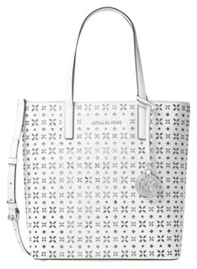 Michael Kors Jet Set Item Tote in White /silver tone