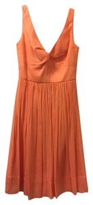 J.Crew Sweet Cantaloupe / Orange J Crew Silk Chiffon Twist Tank Dress Dress