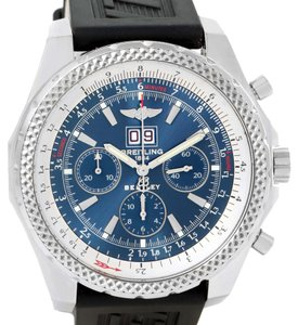 Breitling Breitling Bentley Motors Blue Dial Ruber Strap Steel Mens Watch A44362
