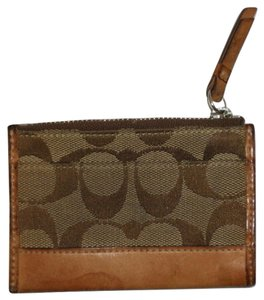 Coach Coach Brown Logo Coin Purse with keychain