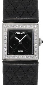 Chanel Chanel Mademoiselle Quilted Diamond Bezel Watch