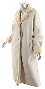 Vera Wang Lambskin Shearling Fur Coat