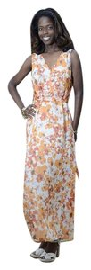 Orange Maxi Dress by Coldwater Creek Maxi Floral