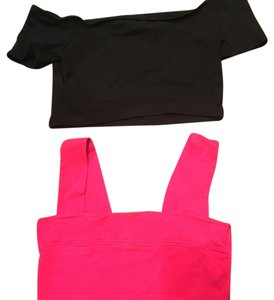 ASOS Top Black/Pink