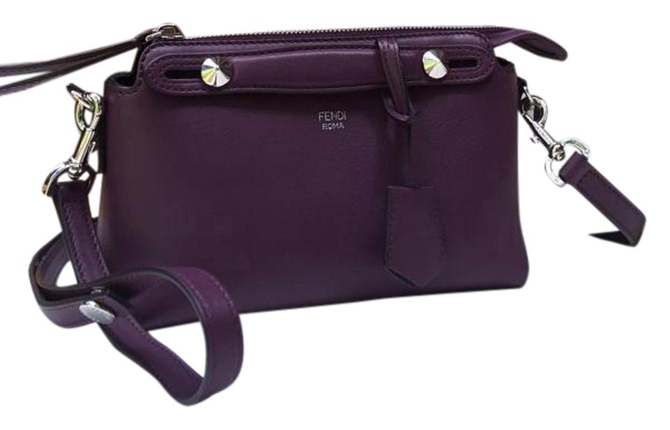 7f1c688d7c Fendi By The Way Mini Shoulder Clutch Purple Leather Cross Body Bag ...