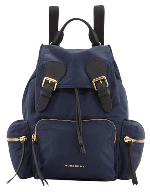 Item - 2016 Runway Medium Rucksack Belted Ink Blue Nylon Backpack
