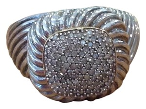 Other Mens Ring , In Silver Accented With Gold And Small Diamonique Stones