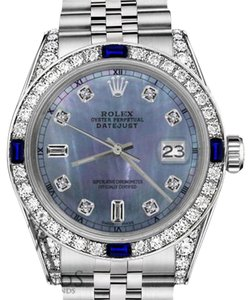 Rolex Ladies Rolex 26mm Datejust Tahitian MOP Dial Sapphire & 8+2 Diamond RT