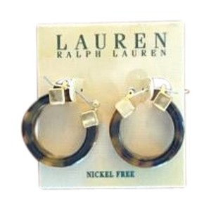 Ralph Lauren NEW Ralph Lauren Small Tortoise Shell Stud Hoop Earrings