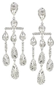 Other 18K White Gold 1.96Ct Diamond Chandelier Dangle Drop Earrings