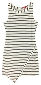 Saks Fifth Avenue RED Striped Mini Fitted Dress