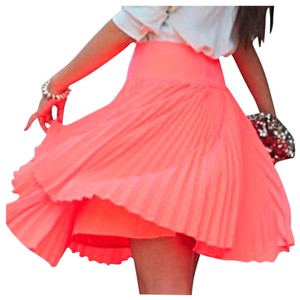 Express Mini Skirt Neon Coral
