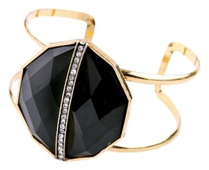 Other Black Stone Pave Cuff Statement Bracelet