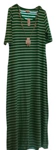 Green & white Maxi Dress by Charming Charlie