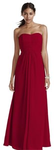 David's Bridal Strapless Full Length Pleated Dress