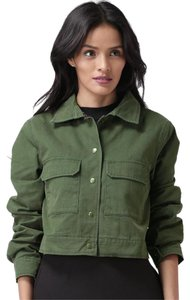 Forever 21 Crop Military Cotton Military Jacket