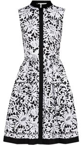 Oscar de la Renta short dress black and white on Tradesy