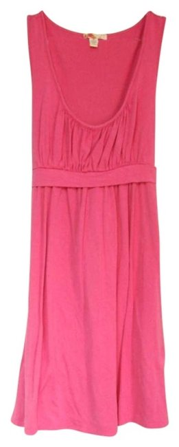 Preload https://item2.tradesy.com/images/forever-21-pink-tie-back-summer-sleeveless-bright-bright-knee-length-short-casual-dress-size-8-m-184606-0-0.jpg?width=400&height=650