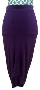 MM Couture Miss Me Stretch Tight Sexy Hot Modal Uched Draped Mid Length Midi Night Out Dress Dressy Fasion Style Stylish Stand Skirt Purple