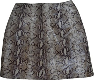 Hugo Buscati Leather Mini Skirt Multi