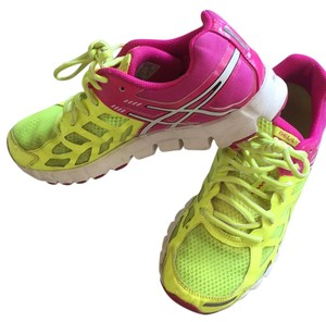 Asics Neon Yellow/Pink Athletic