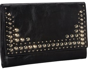 Juicy Couture Alex Leather Studded Black Clutch