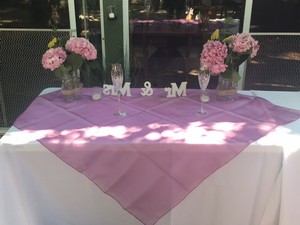 8 Long Table Runners + 2 Square: Sheer / Orchid