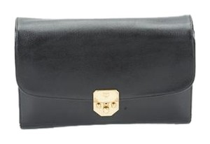 MCM Leather Black Clutch