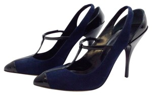 Oscar de la Renta Navy black Pumps