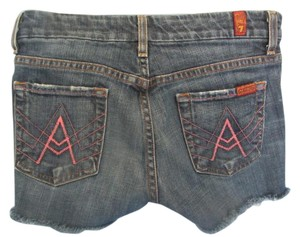7 For All Mankind Cutoff Designer Denim Denim Shorts-Distressed