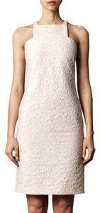 Osman short dress pale pink and cream on Tradesy