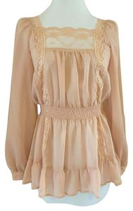 Candie's Lace Trim Sheer Tunic