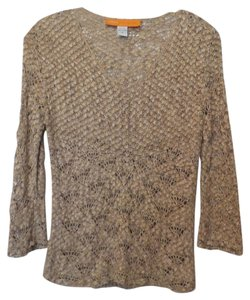 Cynthia Steffe Silk Small Openwork Knit Sweater