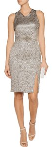 Theia Silver Brocade Dress