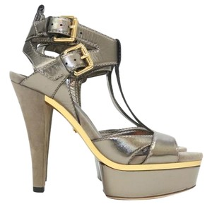 Gucci Silver Gold Pumps