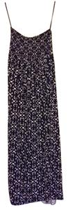 Navy and White Maxi Dress by Tory Burch Silk