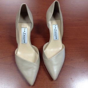 La Fenice Leather Taupe/Nude Pumps