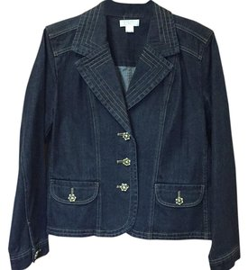 Christopher & Banks Dark blue denim Blazer