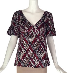 Trina Turk Top Black/ red/ brown