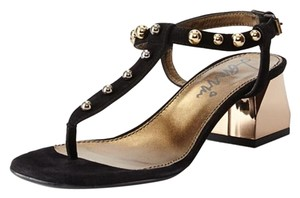 Lanvin T-strap Studded BLACK Sandals