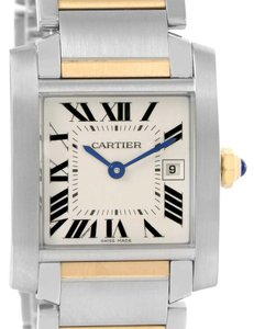 Cartier Cartier Tank Francaise Midsize Steel 18k Gold Watch W51012Q4