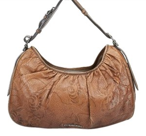Burberry Leather Bean Hobo Bag