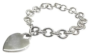 Tiffany & Co. Tiffany & Co Sterling Silver Heart Charm Bracelet. Comes With A FREE GIFT!!!!