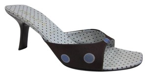Prada Polka Dot Open Toe Purple Mules