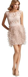 BCBGeneration Lace Sheer Tulle Cocktail Flirty Dress