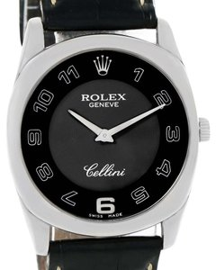 Rolex Rolex Cellini Danaos 18k White Gold Black Dial Unisex Watch 4233