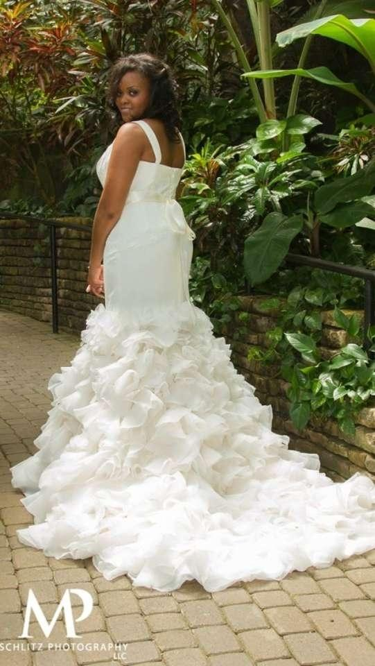 Mermaid Style Wedding Dresses Vera Wang : Vera wang georgette mermaid gown wedding dress