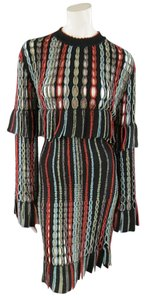 ALAÏA Vintage Cutout Mesh Fringe Dress