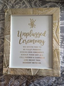 Four Wedding Signs - Purchase Options Avail