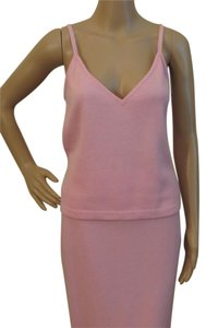 St. John V-neck Swoop Neck Top Frosted Rose